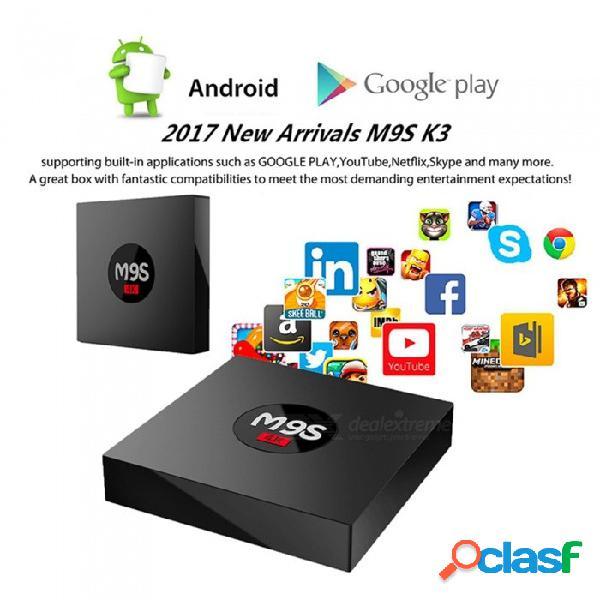 M9s k3 android smart tv box rk3229 quad-core 4k reproductor de red set top box con 2gb de ram 16gb rom - enchufe de ee. uu.