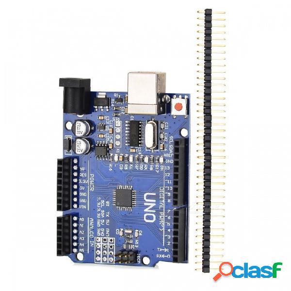Un juego uno r3 (ch340g) mega328p para arduino uno r3 para su poryecto de bricolaje arduino (cable usb no incluido)