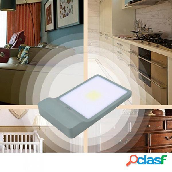 Usb recargable mini led luz nocturna, control magnético fuerte cob luz montada en la pared para armario armario pasillo blanco / verde claro