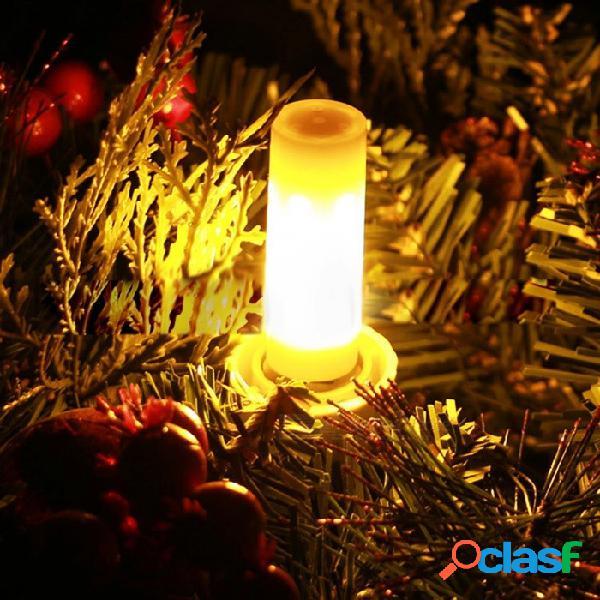 Bombilla led con efecto de llama 2835smd led, g4 parpadeo encendido encendido bombilla led de maíz encendida, decoración de 12 v reemplazar lámpara halógena amarillo / 3w / blanco
