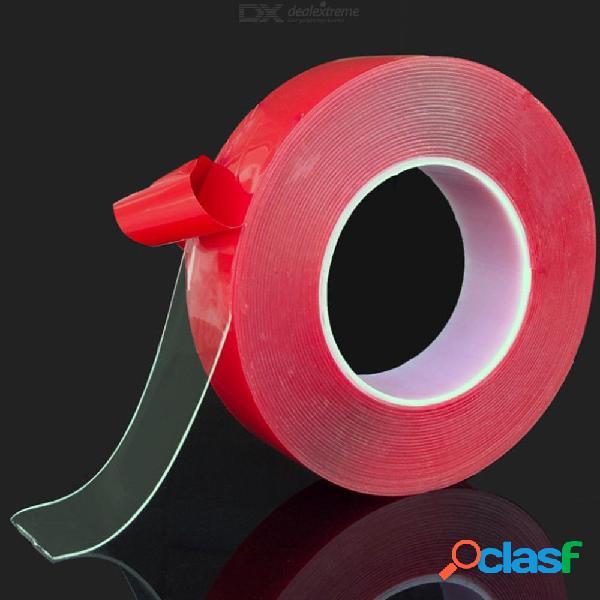 Etiqueta engomada de doble cara de la cinta del silicón transparente de 3 metros para el coche de alta resistencia ninguna etiqueta engomada adhesiva de los rastros