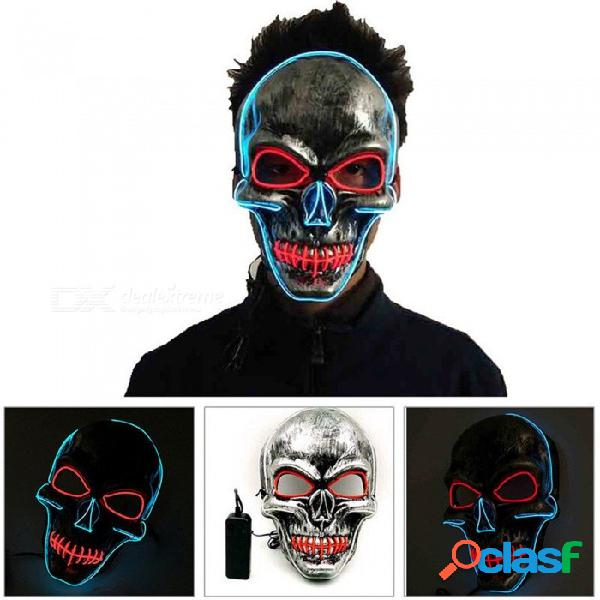 Fiesta de baile que realiza máscara de terror de halloween cosida máscara de truco de la boca (2 * aa)