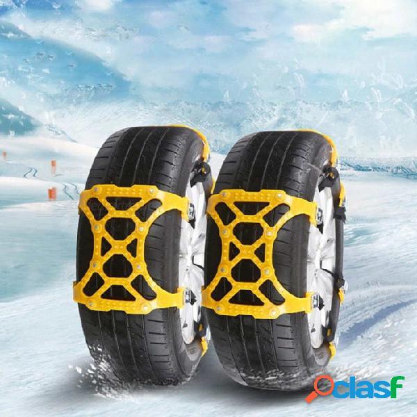 Ruedas antideslizantes para neumáticos de invierno para automóviles esamact 165 - cadena de tpu de rueda de neumático engrosada de 265 mm para carreteras de barro nevado