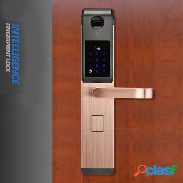 Zhaoyao seguridad electrónica huella digital óptica digital cerradura de la puerta para el hogar con contraseña amp tarjeta rfid desbloqueada