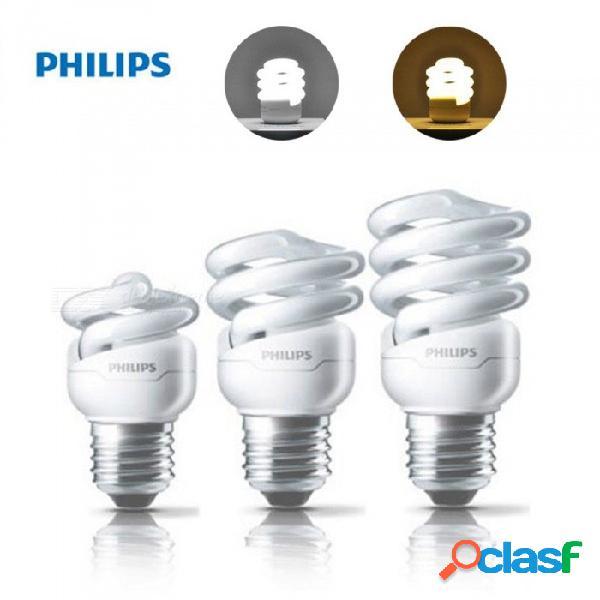 Bombilla led philips e27 de gran potencia en espiral, bombilla led de bajo consumo para iluminación interior en interiores blanco cálido / 5w / blanco