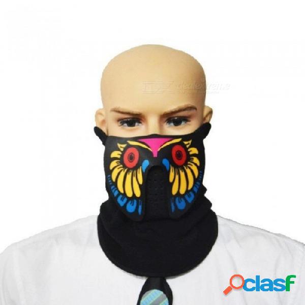Halloween máscaras de led ropa grandes terror máscaras casco de la luz fría festival de fuego fiesta brillante danza constante en el controlador a1