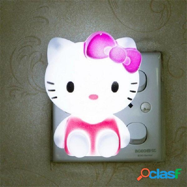 Hola kitty led luz de noche ac 220 v lámpara de noche de dibujos animados con ee.uu. enchufe regalos para niños bebé niños dormitorio lámpara de noche
