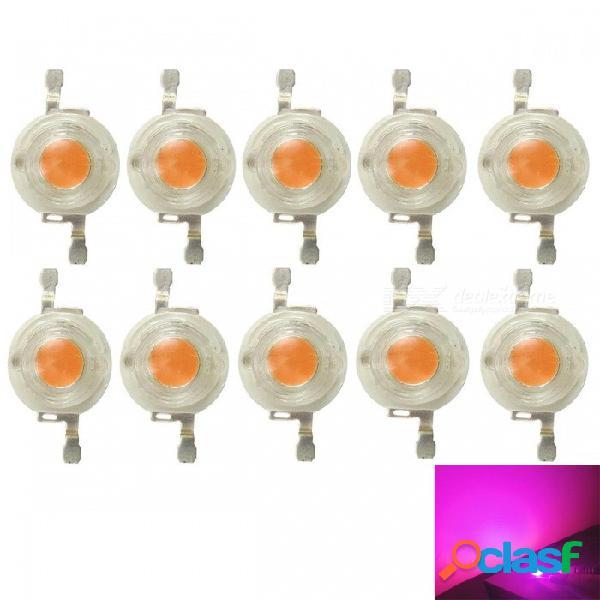 Perlas de led rosadas de espectro completo jrled de 3w, fuente de luz para plantas (10 pcs, dc3-3.5v)