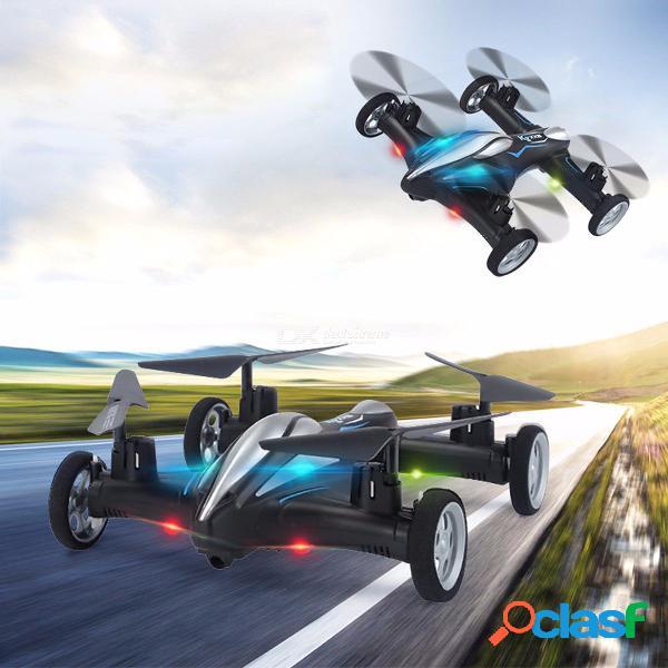 Tierra / air quadcopter coche de modo doble avión no tripulado vuelo de control remoto avión modelo de coche de juguete