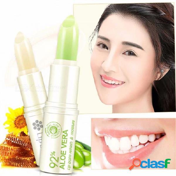 Bioaqua bálsamo hidratante para labios de cera de abeja para labios secos y agrietados, bálsamo labial ultra hidratante duradero verde claro
