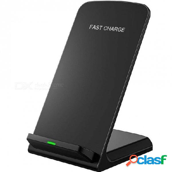 Cargador inalámbrico qi para iphone xs max xr x 8 para samsung note 9 s9 s8 s7 estación de acoplamiento de acoplamiento de carga inalámbrica rápida