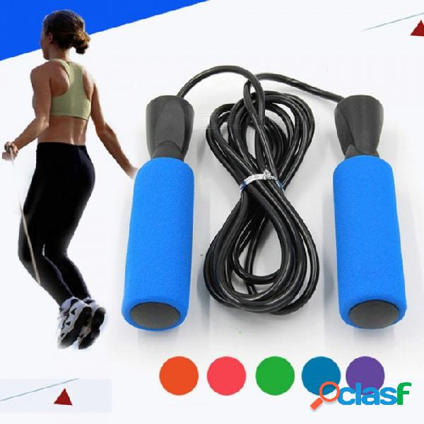 Gimnasio cuerda de saltar formación profesional cable ajustable cuerdas para saltar de alta velocidad rodamientos rápidos rojo