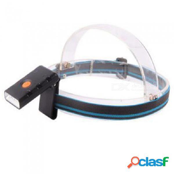 Sensor de movimiento led con carga usb ajustable faros led faros a prueba de agua súper brillante noche pesca clip clip luz blanco / negro