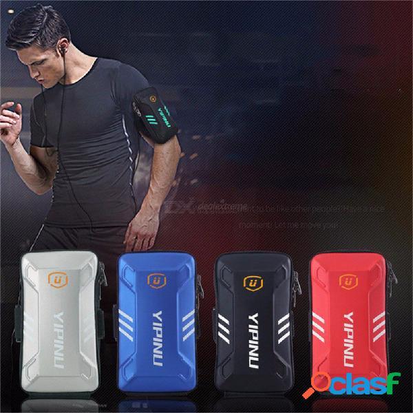 Yipinu impermeable pequeño gimnasio corriendo bolso billetera jogging soporte para teléfono monedero brazalete gimnasio brazo bolsa accesorios deportivos