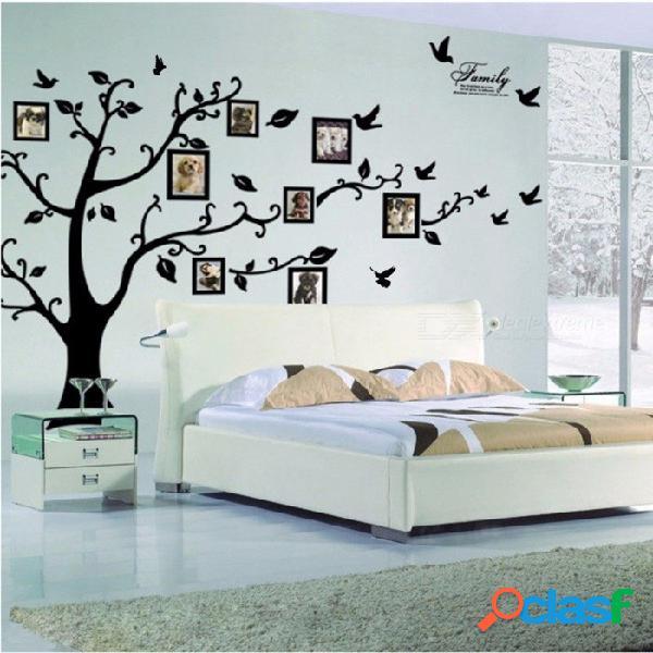 Árbol de la foto de 3d diy pegatinas de pared de pvc / adhesivo familia pegatinas de pared arte mural decoración del hogar (grande 200 * 250 cm / 79 * 99in negro) 200 * 250 cm