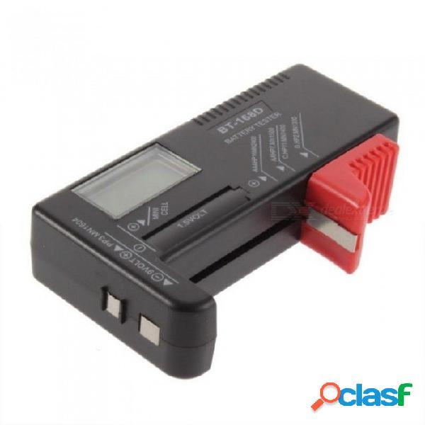 Comprobador de batería digital bt168d para 1.5v y aa aaa 9v celda de herramienta de medidor de voltaje de múltiples células de botón de tamaño bt-168d negro