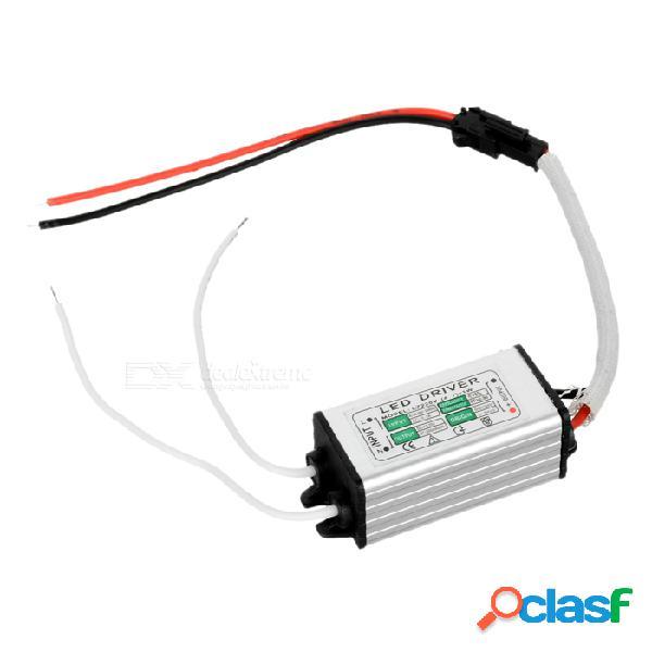 Fuente De Alimentación De Fuente De Alimentación De Corriente Constante LED De 7W Impermeable - Plata + Negro