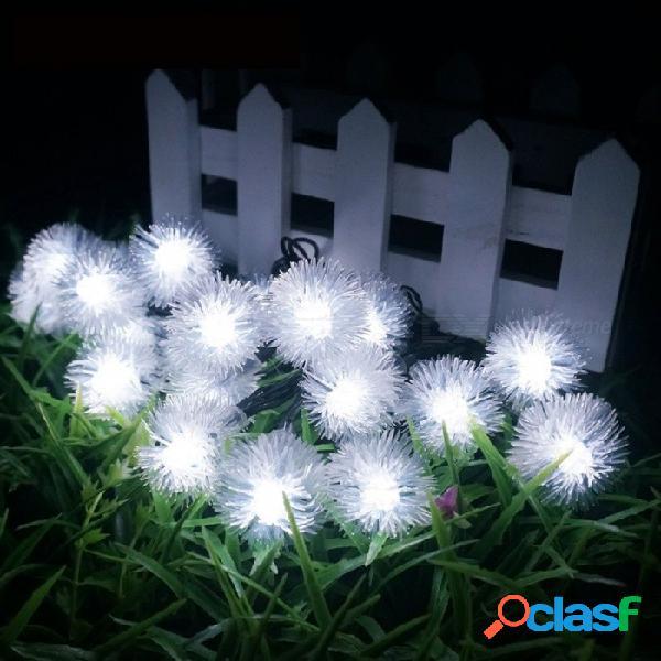 Luces de cadena de 20 m con energía solar portátil de 5 m para el jardín al aire libre, fiesta navideña, fiesta, iluminación, luz blanca