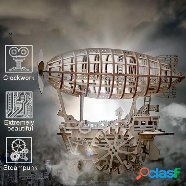 30 x 21.5 x 25 cm juego de rompecabezas creativo 3d juego de arte de aviones de madera educativo diy