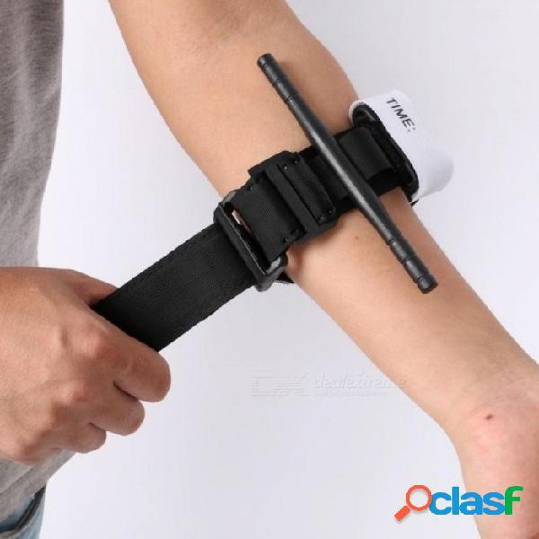Ayuda al aire libre aplicación de combate hebilla de liberación rápida torniquete médico correa torniquete de emergencia exterior negro