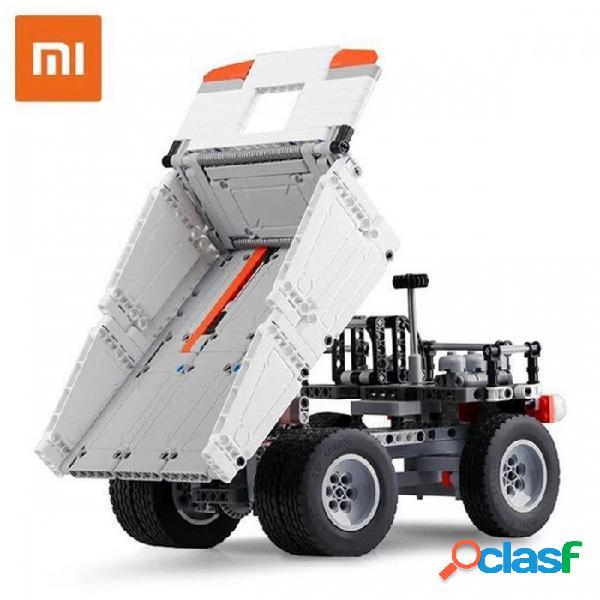 Original xiaomi mitu truck mi building blocks dedo spinner regalo para niños de seguridad portátil constructor inteligente mini juguetes