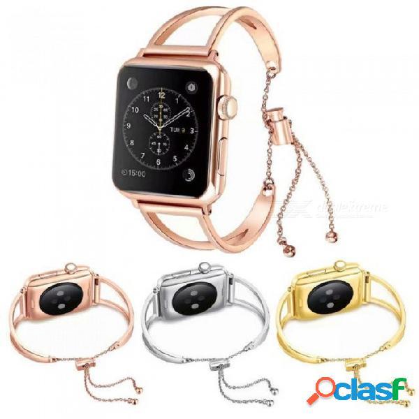 Mujeres niñas pulsera correa de reloj para apple watch band 38mm 42mm miro series 4 3 2 1 de lujo de acero inoxidable banda de reemplazo para 38mm / oro rosa