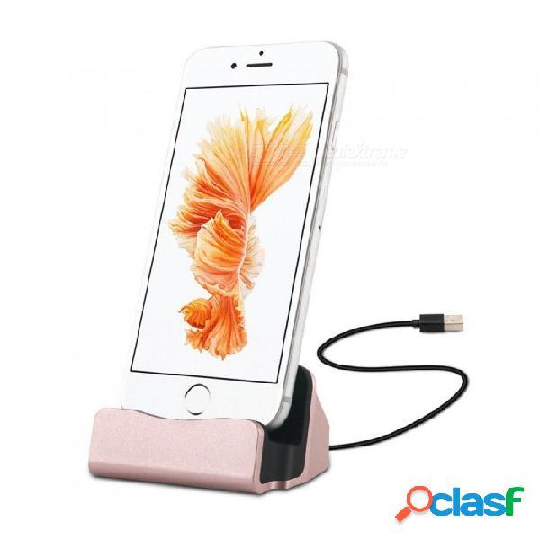 Soporte para base de carga de sincronización de datos usb de 8 pines cwxuan para iphone 5 5s 5c se 6 6s 7 8 x más