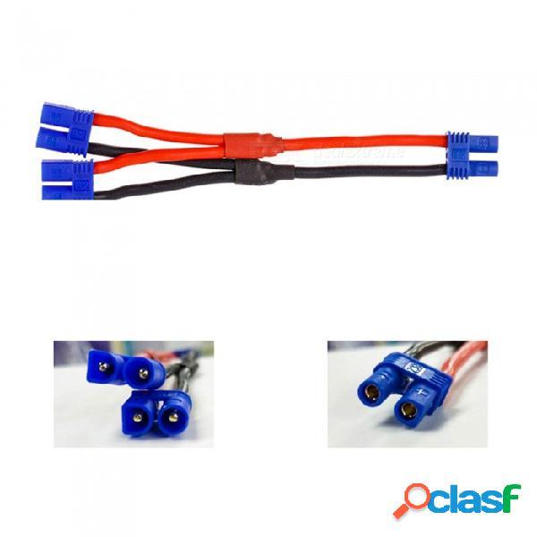 2 unids enchufe hembra ec2 a dos cables del adaptador del conector del cable del enchufe ec2 macho para hubsan h501s drone quadcopter lipo batería