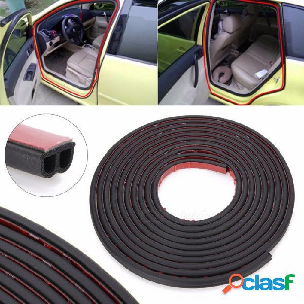 5 metros tipo b adhesivo sello de goma del coche aislamiento acústico puerta del coche tira burlete burlete borde ajuste aislamiento acústico negro