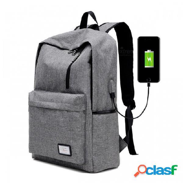 Boyue bros. mochila mochila escolar escolar con puerto de carga usb externo para hombres mujeres, mochila escolar para adolescentes mochila / gris