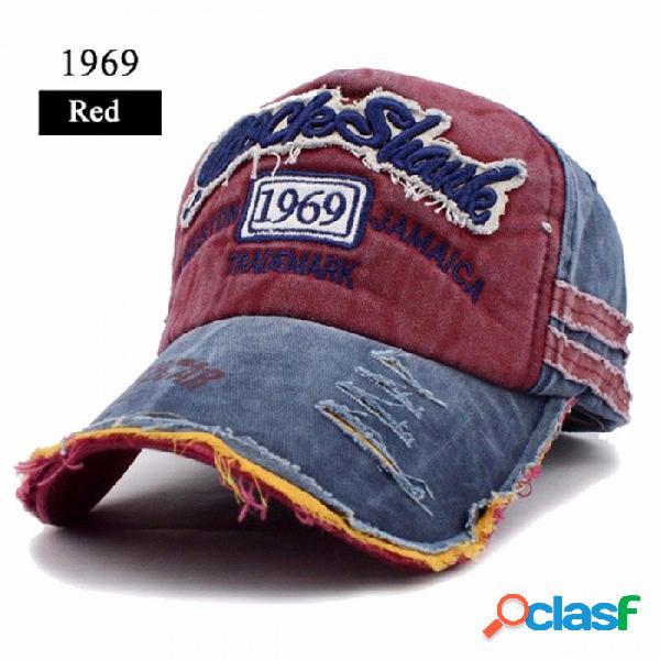 Gorra de béisbol flb de estilo casual para hombre y mujer, sombrero de casquette de diseño único para deportes al aire libre 1969 rojo