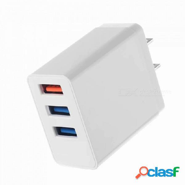 Szkinston cargador de teléfono rápido portátil de alta corriente para el hogar enchufe de ee. uu. 3 puertos usb 3a ac 100v-240v cargadores de corriente alterna