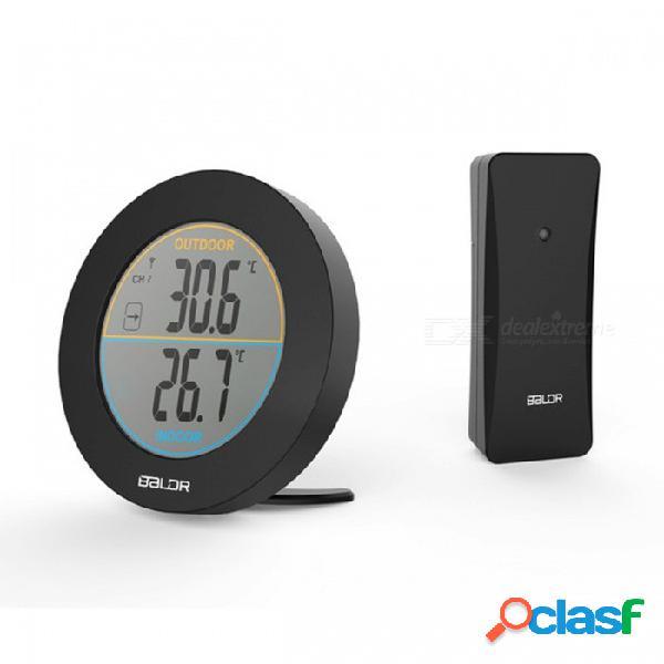 Termómetro inalámbrico de mesa baldr con registro de indicador de tendencia de max / min, sensor de medidor de temperatura digital de pared con pantalla lcd