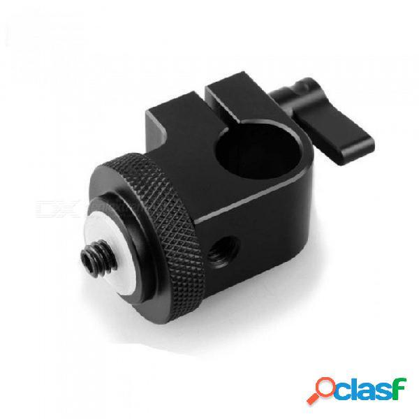 Abrazadera de varilla de 15 mm del sistema de plataforma dslr de smallrig con orificio de 1/4 de rosca para conectar micrófonos / grabadoras de sonido de la cámara negro