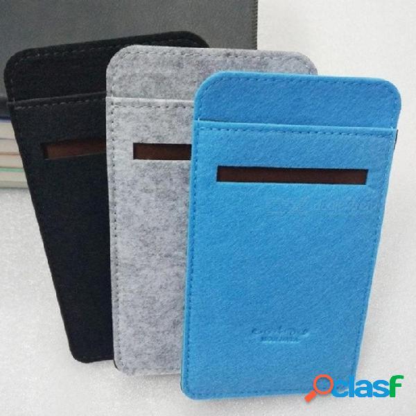 Caja del banco de alimentación para 10000 mah 2 pro mi banco de la energía 10000 mah fieltro funda de tela cubierta acogedora para batería externa portátil negro