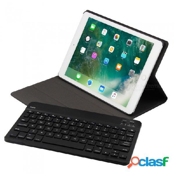 Cooho ft1030 funda para teclado desmontable de piel de oveja fina para apple air 1 / aire 2, pro9.7, 2017 / 2018 iapd, ipad 5 / 6