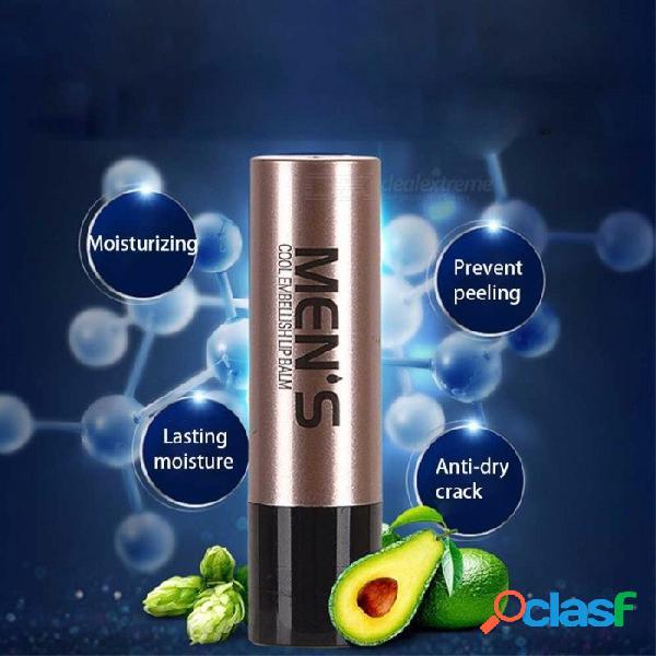 Natural hidratante bálsamo para los labios incoloro refinar reparar arrugas hombres protección contra el envejecimiento cuidado de la piel del labio color aleatorio
