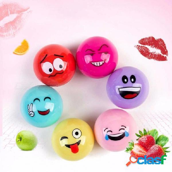 Natural plant organic sphere ball cartoon expression lipsticks moisturizer embellish lip balm chapstick random color