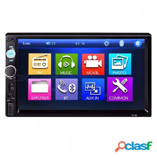 Universal 7quot pantalla táctil 2 din car mp5 reproductor de video auto automóvil audio estéreo multimedia fm, mp5 con usb, aux, bluetooth