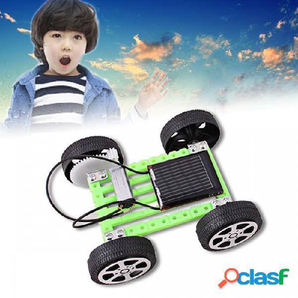 1 set mini kit de bricolaje para automóvil de bricolaje para automóvil, kit educativo para niños, regalo divertido para los niños, regalo educativo para niños, verde