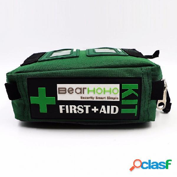 Bearhoho 165 piezas del kit de primeros auxilios práctico bolsa de emergencia de emergencia médica de rescate al aire libre equipaje de coche escuela senderismo kits de supervivencia bolsa va