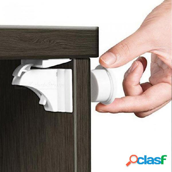 Cerraduras magnéticas gabinete de seguridad para bebés cerradura de la puerta protección de los niños niños cerraduras de cajones armario de seguridad para bebés cosas para bebés a prueba de