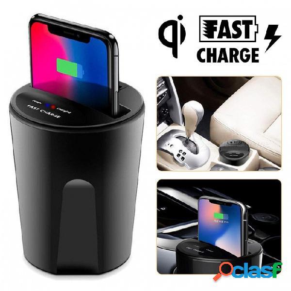 El cargador inalámbrico de medición qi cargador de batería qi con salida usb para iphone 8 iphone x samsung galaxy s8 s7 s6 edge
