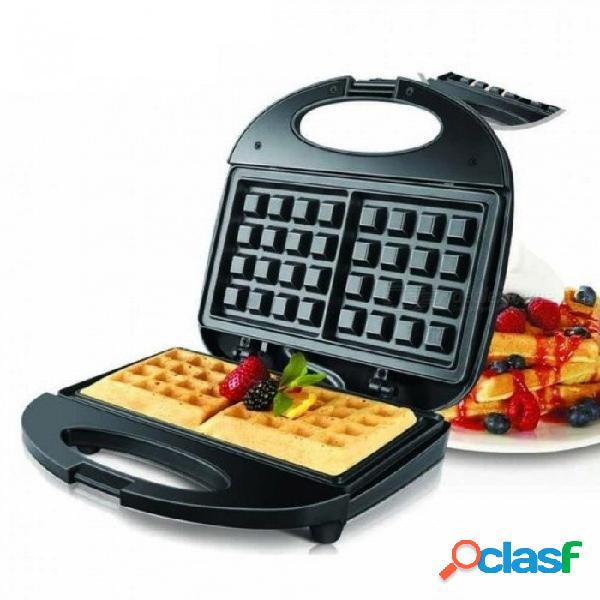 Máquina para hacer gofres eléctrica sándwich eléctrico máquina de hierro burbuja huevo torta horno desayuno máquina conífera rápido delicioso seguridad uk / 220-240v / negro
