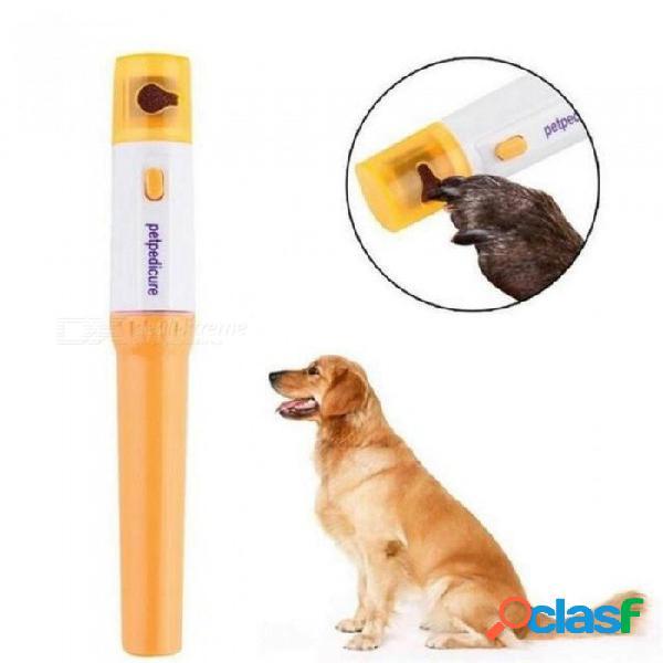 Mascota perro gato uñas eléctricas garra aseo aseo amoladora cortadora podadora tijeras uñas uñas amarillo blanco color amarillo