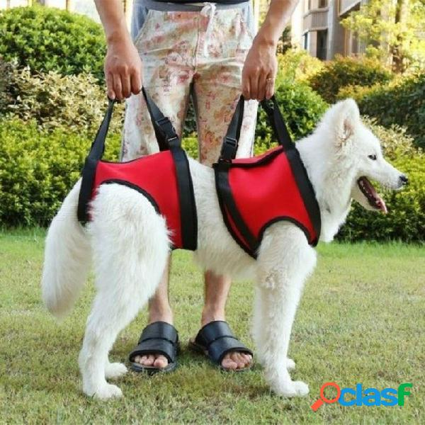 Pet dog harness walk out hand strap vest dog lift support lifting band pets assist travel kit dog's collar leash dog harness s/red front legs