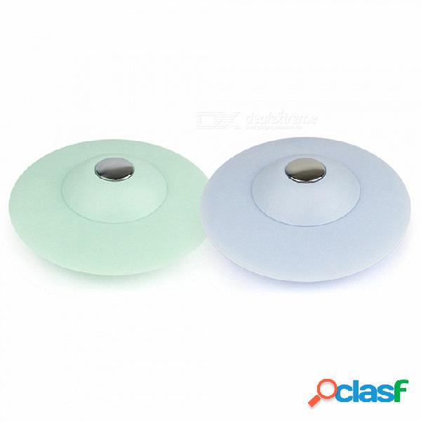 2 en 1 drenaje del piso de la bañera del enchufe del dren del gel de silicona (2 PCS / color al azar)