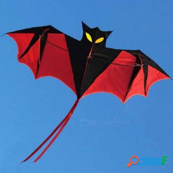 Caña de resina de cometa power power de murciélago rojo de 1,8 m con mango de kite y línea. buen diseño de murciélago volador con kite de color rojo negro sin línea.