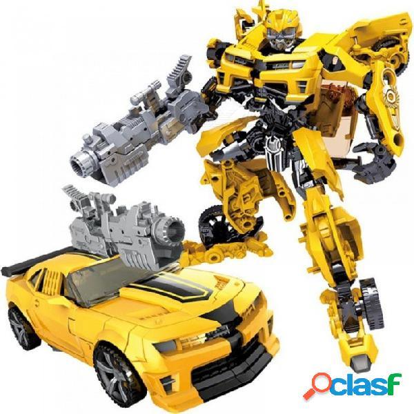 Niños robot juguete transformación serie de anime figura de acción de juguete 2 tamaño robot coche abs modelo de plástico figura de acción de juguete para niños