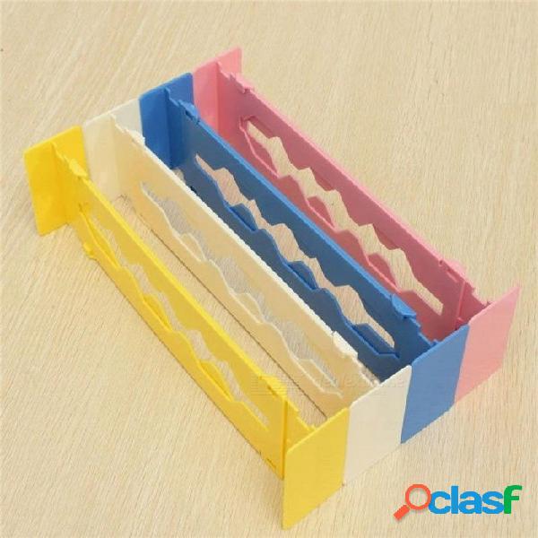 Retráctil ajustable tramo de plástico divisor organizador almacenamiento partición tablero multiuso diy hogar oficina cocina blanco